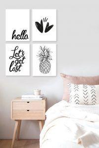 cuadros para dormitorio moderno minimalista y juvenil