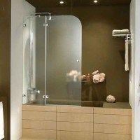 mampara para ducha media ovalada transparente