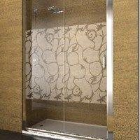 mamparas para duchas con un diseño abstracto y transparente borroso