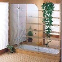 mamparas para duchas transparente con punta ovalada