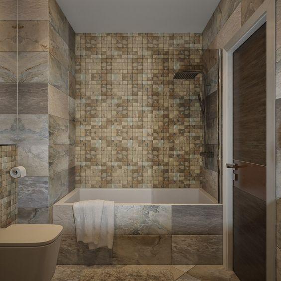 mosaicos de piedra natural para baño
