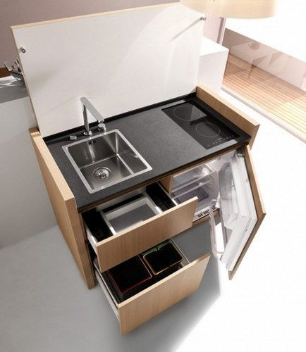 mueble funcional para cocina pequeña – Casa Web