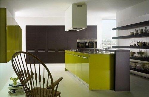 Muebles verdes cocina casa web for Cucina moderna tecnologica