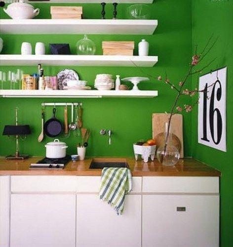 Paredes verdes en la cocina casa web - Webs de cocina mas visitadas ...