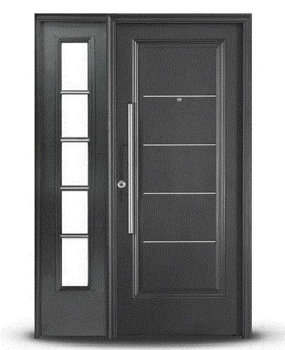 Puerta entrada oblak negra grafito 1709g premium barral - Puertas de metal para casas ...