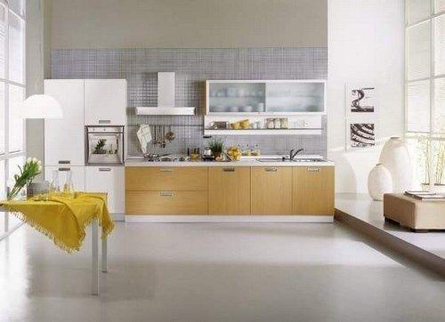 Cocina con piso de microcemento casa web for Pisos para cocina