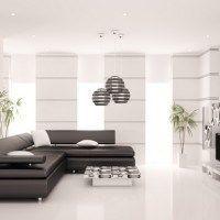 living minimalista con mucha luz