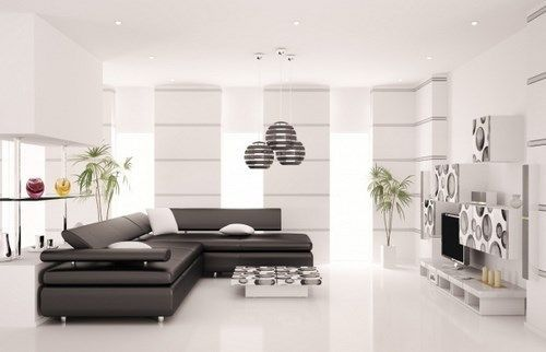 Living minimalista con mucha luz casa web for Decoracion living