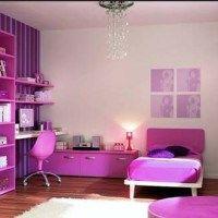 decoracion habitacion violeta