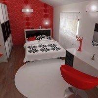 decorar el dormintorio con rojo