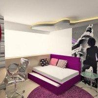 dormitorio juvenil chica mujer violeta