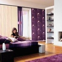 dormitorio juvenil violeta