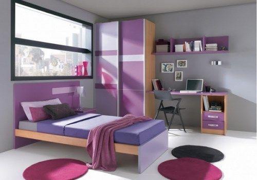 Dormitorios juveniles violetas casa web - Decoracion de dormitorios juveniles pequenos ...
