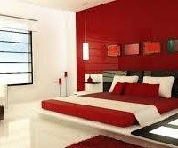 dormitorio matrimonial rojo
