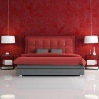 dormitorio rojo moderno