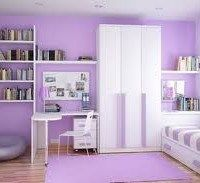 dormitorio teen violeta