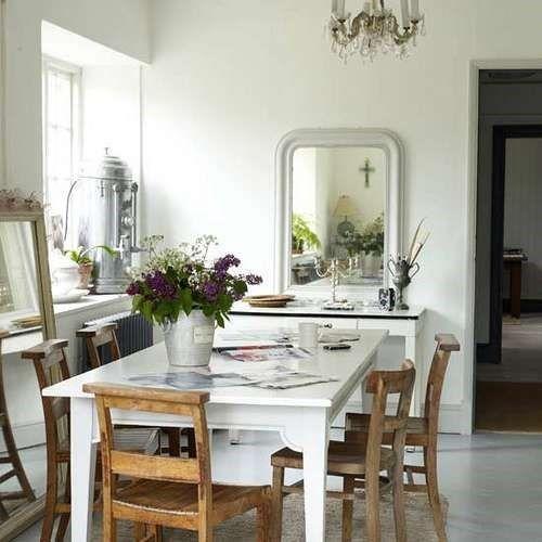 Foto idea decoracion espejos pequeno comedor casa web - Comedor pequeno decoracion ...