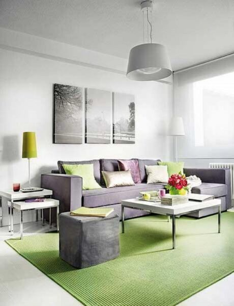 Living con sillon gris casa web for Web decoracion
