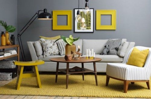 living gris y amarillo