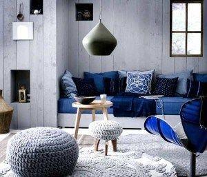 living gris y azul