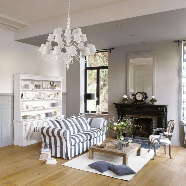 Decoracion de living gris casa web for Espejo maison du monde