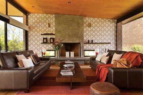 Decorar living con sofa marron casa web for Sofas marrones decoracion