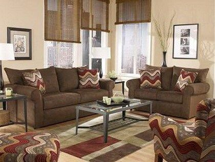 Decorar living con sofa marron casa web for Muebles marrones de que color pinto las paredes