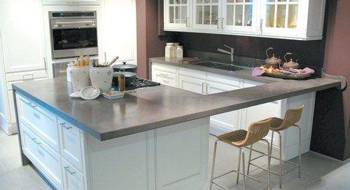 Mesada cemento casa web - Cocinas de microcemento ...