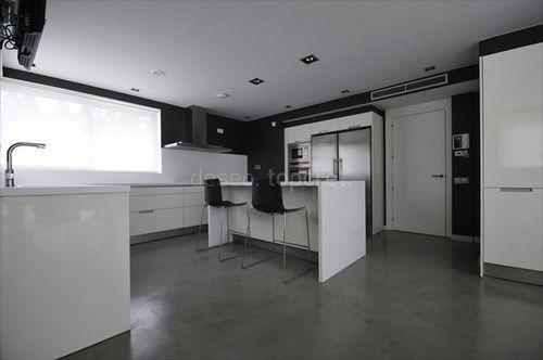 Microcemento alisado cocina casa web - Microcemento en cocinas ...