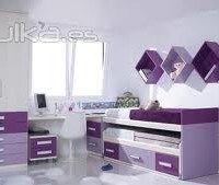 muebles violetas para dormitorio