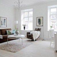 sofa marron en el living