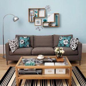 sofa marron moderno