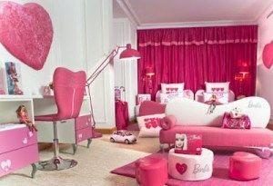 Lovely Barbie Pink Bedroom Interior Design