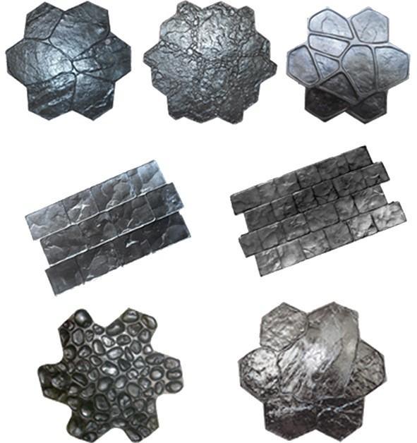 Moldes para estampar pisos de cemento