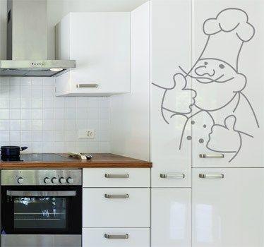 Pegatina decorativa jefe de cocina