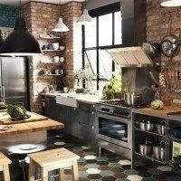 cocina con estilo industrial