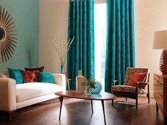 cortinas de colores fuertes