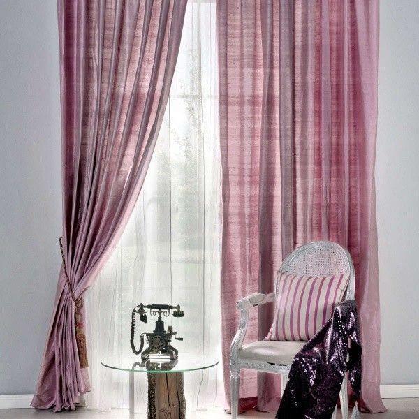cortinas modernas de seda