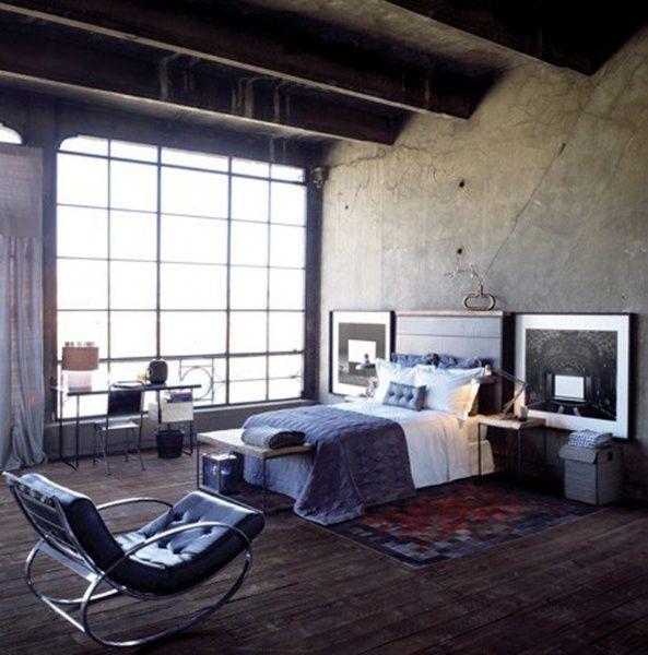Dormitorio estilo industrial casa web for Cortinas estilo industrial