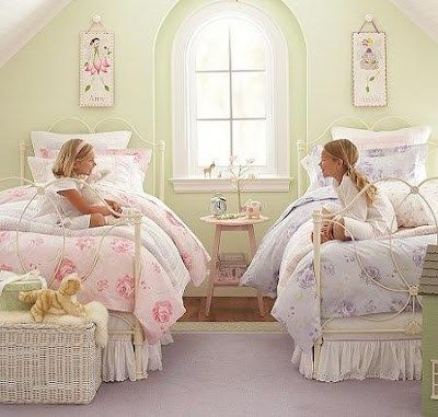 Dormitorio para dos ni as casa web for Lenceria de dormitorio 3