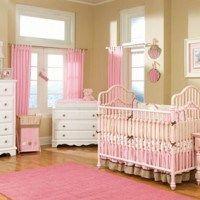 dormitorios para beba rosa y beig
