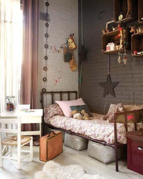 Habitacion ni a estilo industrial casa web for Cortinas estilo industrial