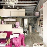 loft decorado con estilo industrial