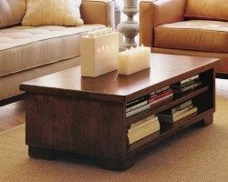 mesa baja de madera para la sala de estar