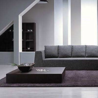 Mesa minimalista para el living casa web for Mesas de living