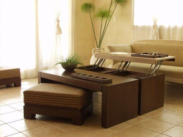 Mesas para el living o sala de estar casa web for Modelos de muebles de sala para departamentos pequenos