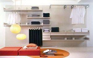 vestidor en la pared