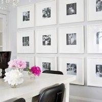 Tus fotos de familia en la pared del comedor