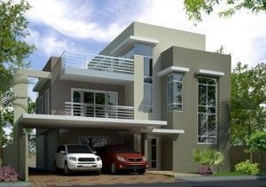 casa en tonos verdes