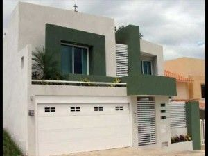 casa verde y beige